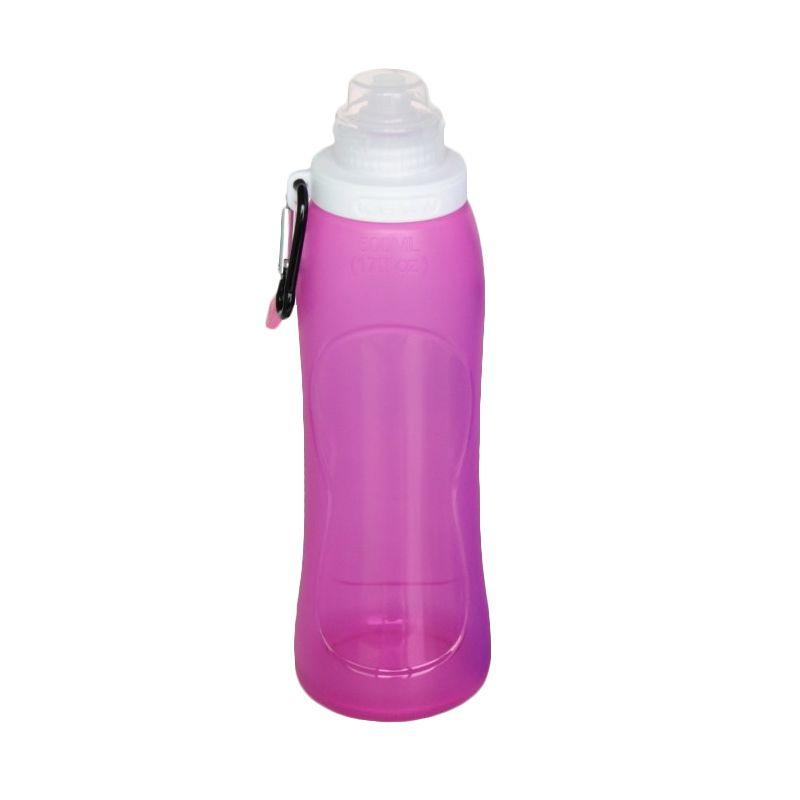 Kean Silicone Foldable Purple Botol Minum