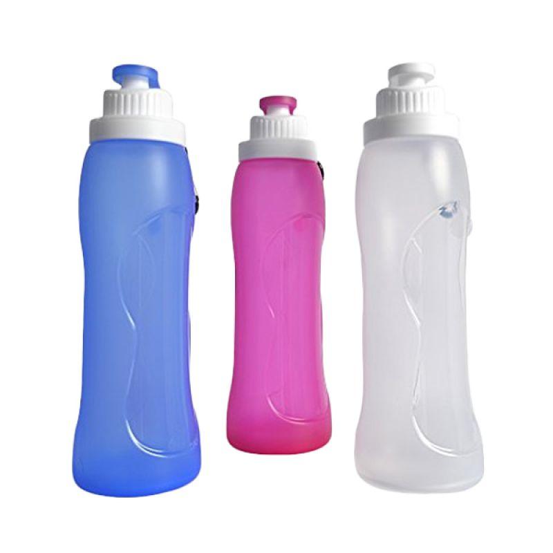 Kean silicone water bottle Pink Botol Minum [550 mL]