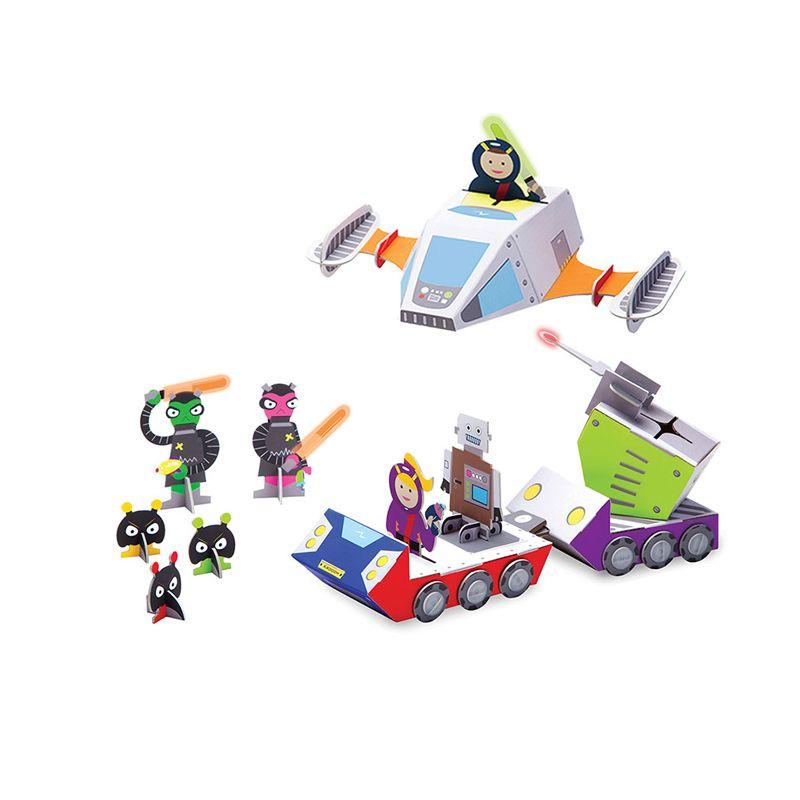 KROOOM Galactic Police Space Mission Mainan Anak