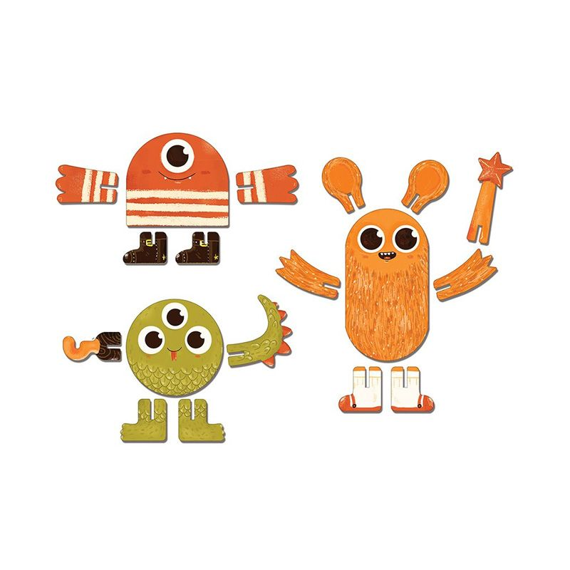 KROOOM Mosters 3D Puzzle Mainan Anak