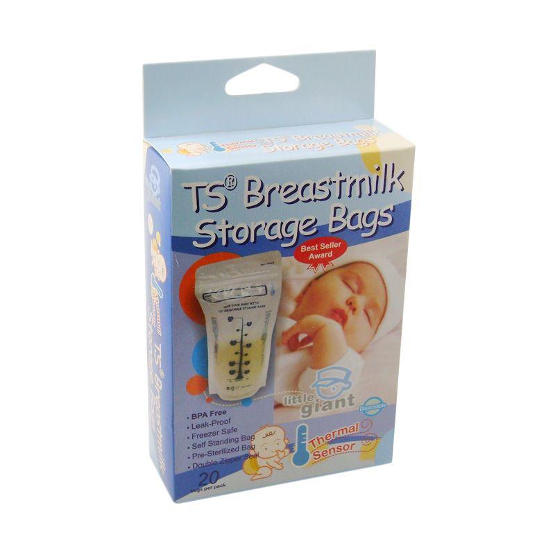 Little Giant TS PK 20 Biru Breastmilk Kantung Penyimpan Susu