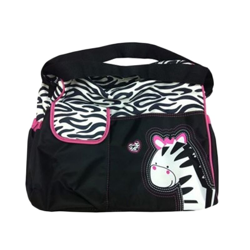Lucky Baby Mummy Bag It Zeb Adjustbale Black Zebra Sling Bag Tas Bayi