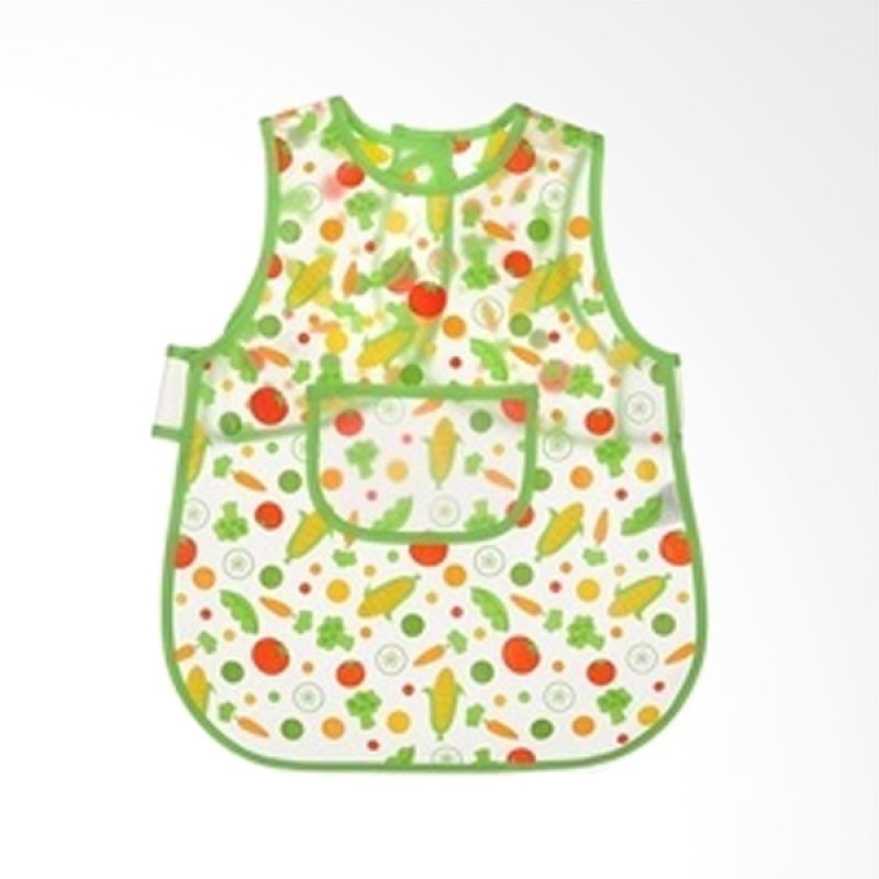 Luvable Friends Easy Clean Green Celemek Bayi