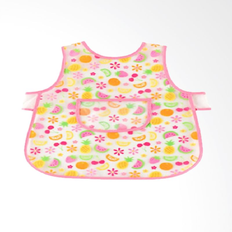 Luvable Friends Easy Clean Pink Celemek Bayi