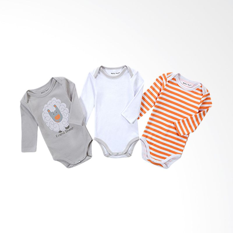 Mother Nest Jumper Friend Sheep Boys Set Jumpsuit Bayi [3 Pcs]