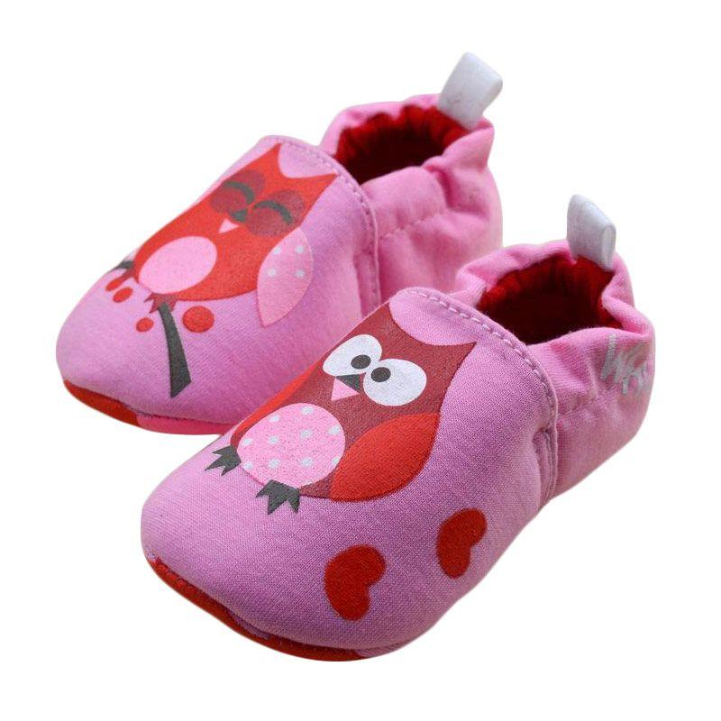 Next Prewalker Motif Owl Pink Sepatu Bayi
