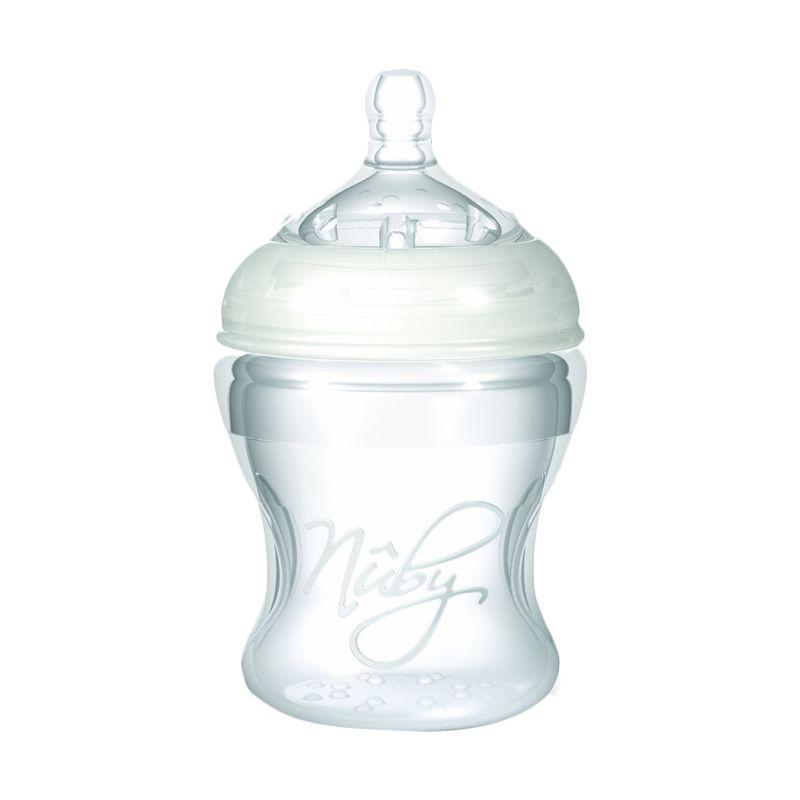 Nuby Natural Touch Soft Flex Silicone Nurser Botol Susu [150 mL]