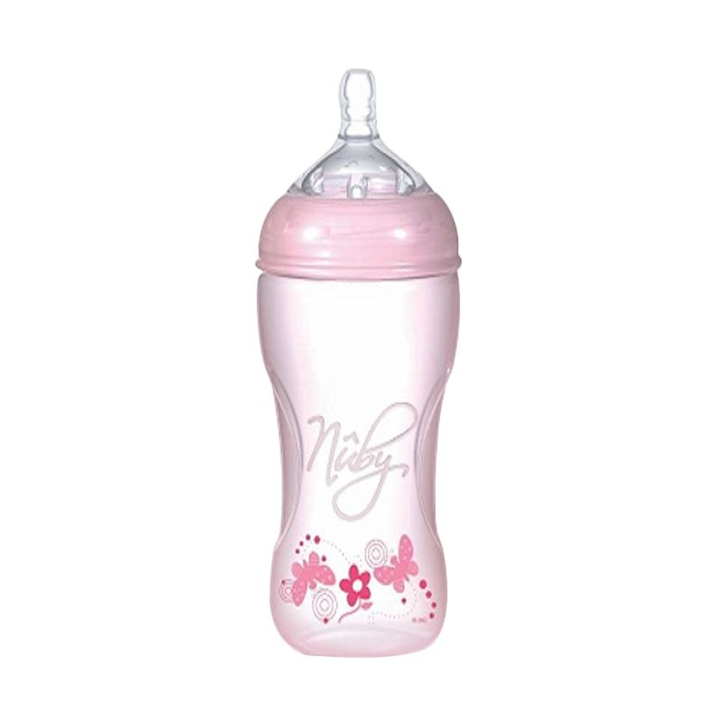 Nuby Natural Touch Softflex Natural Nurser Pink [300 mL]