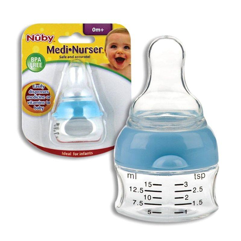 Nuby PP Medi Nurser BPA Free Blue Botol Susu [0+ m]