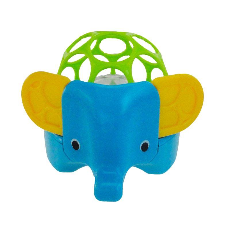 Oball Rollie Rattle Elephant Blue Mainan Bayi