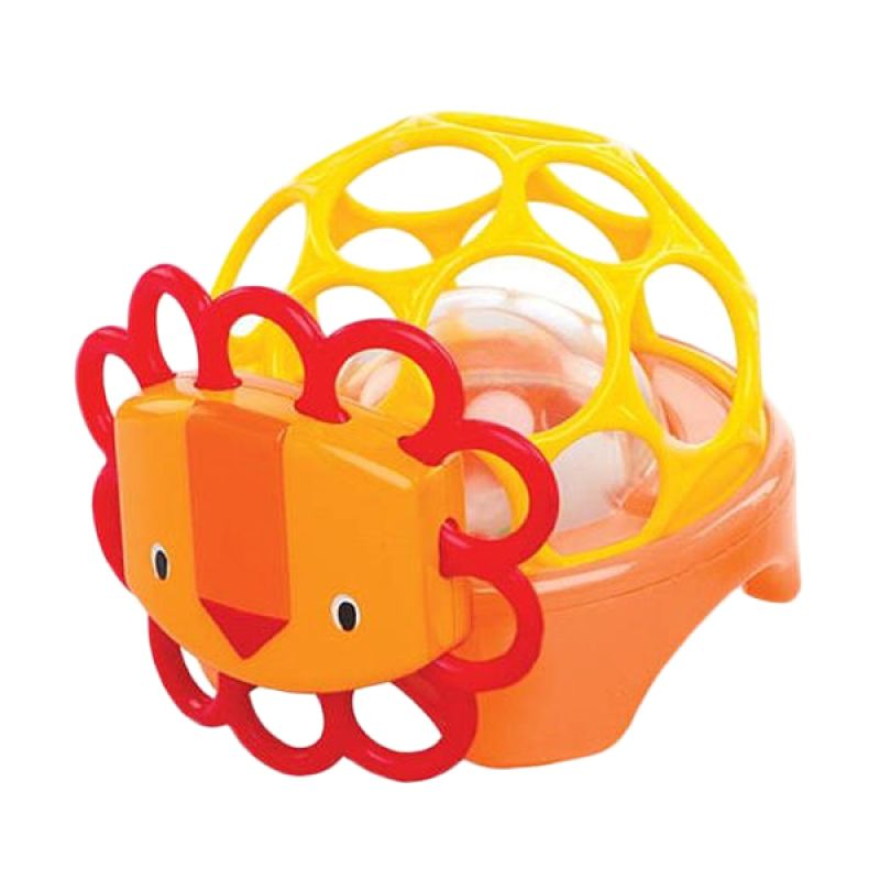 Oball Rollie Rattle Lion Orange Mainan Bayi