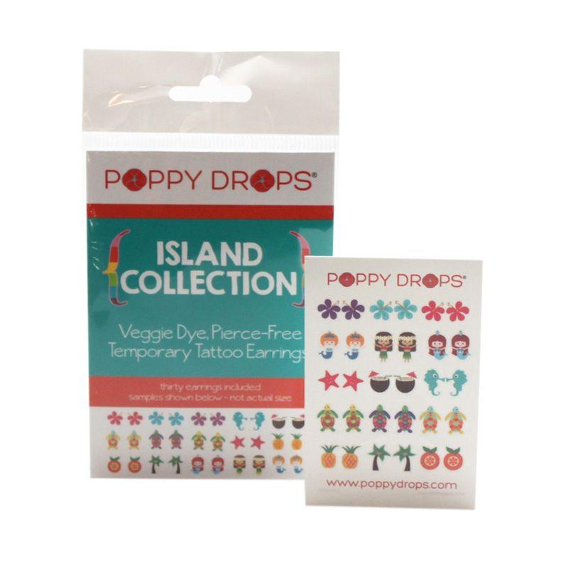 PoppyDrops Pierce Free Earring Island Tato Temporer