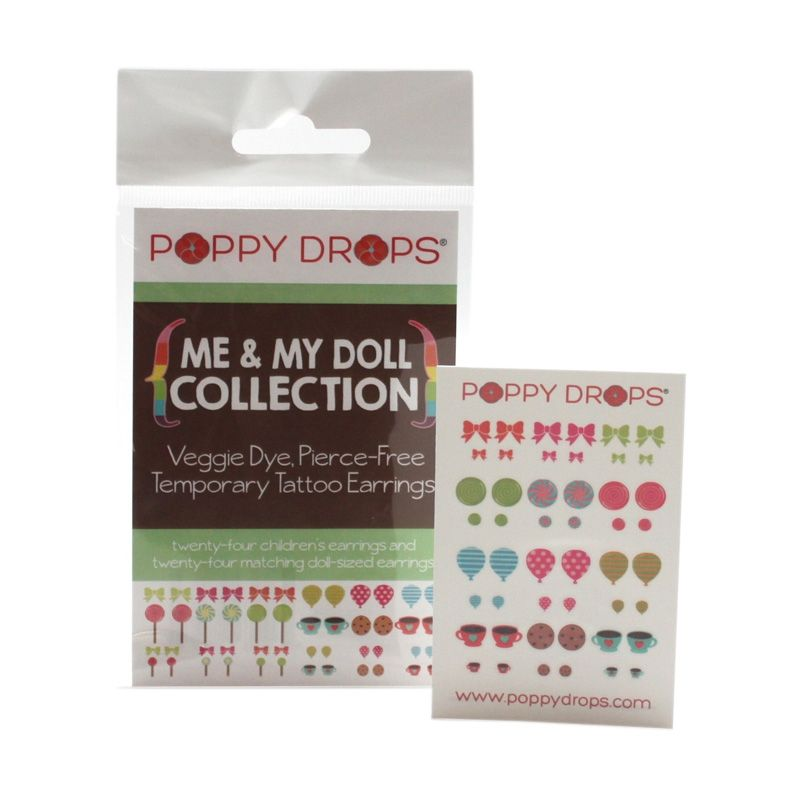 PoppyDrops Pierce Free Earring Me n My Doll Collection Tato Temporer