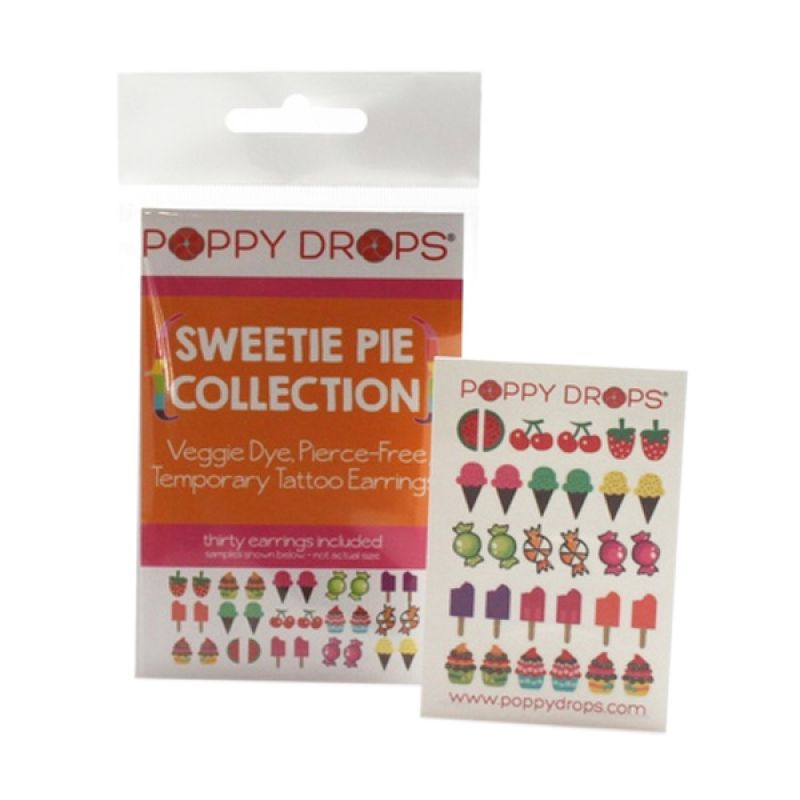 PoppyDrops pierce Free Earring Sweetie Collection Tato Temporer
