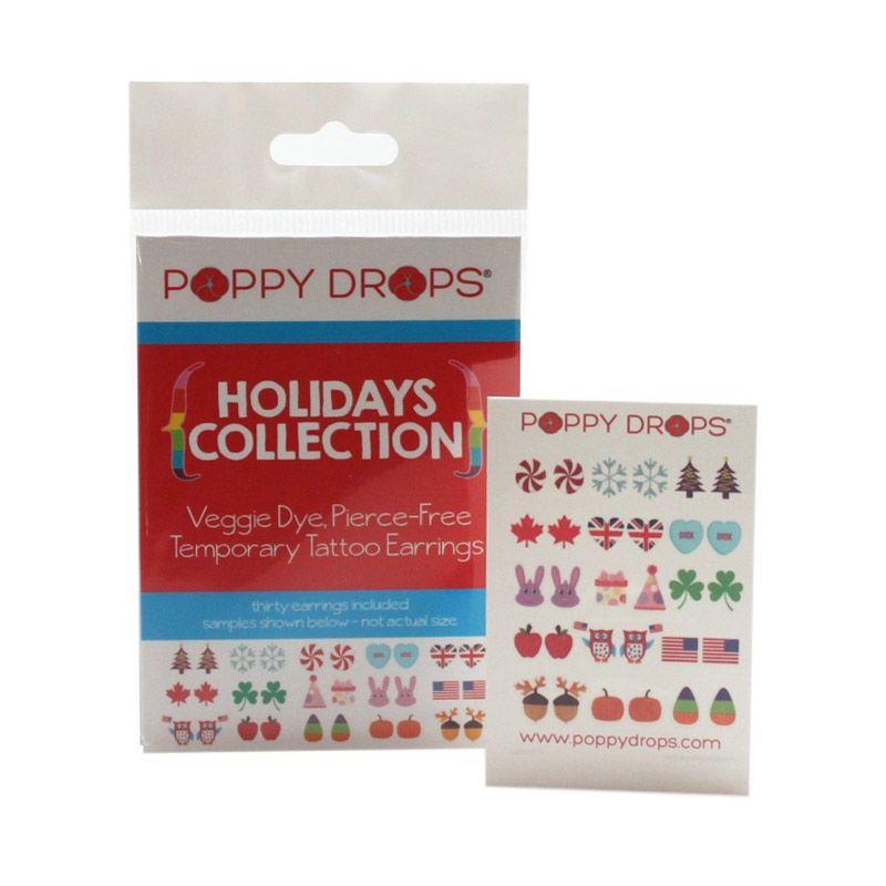 PoppyDrops Pierce Free Earring Holidays Collection Tato Temporer