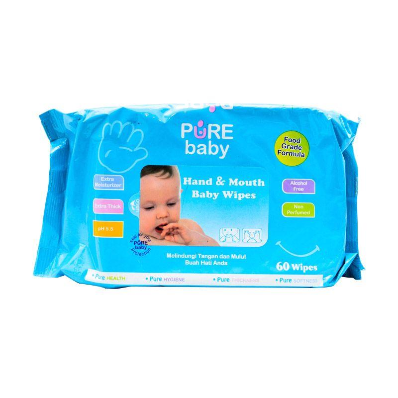 Pure Baby Hand & Mouth Aloe Vera Tissue Basah [60 Wipes]