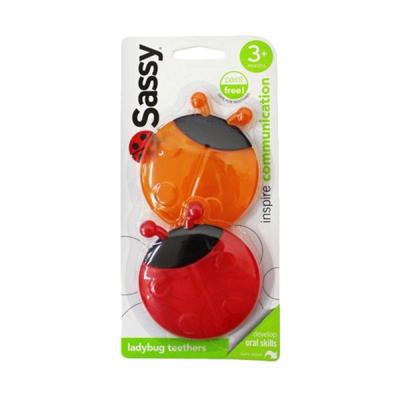 Sassy Lady Bug Orange Red Teether