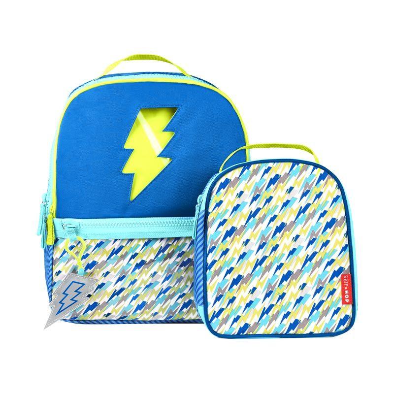 Skip Hop Forget Me Not Backpack Set Lightning Blue Tas Sekolah