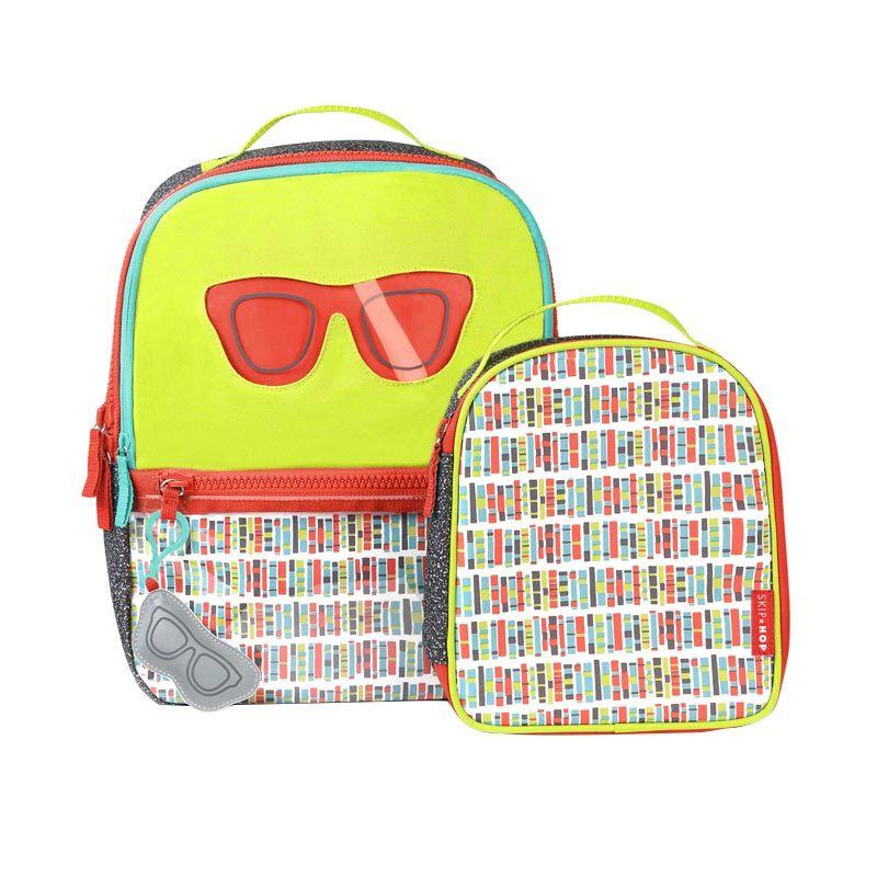 SkipHop Forget Me Not Backpack Set Spaces Green Tas Sekolah