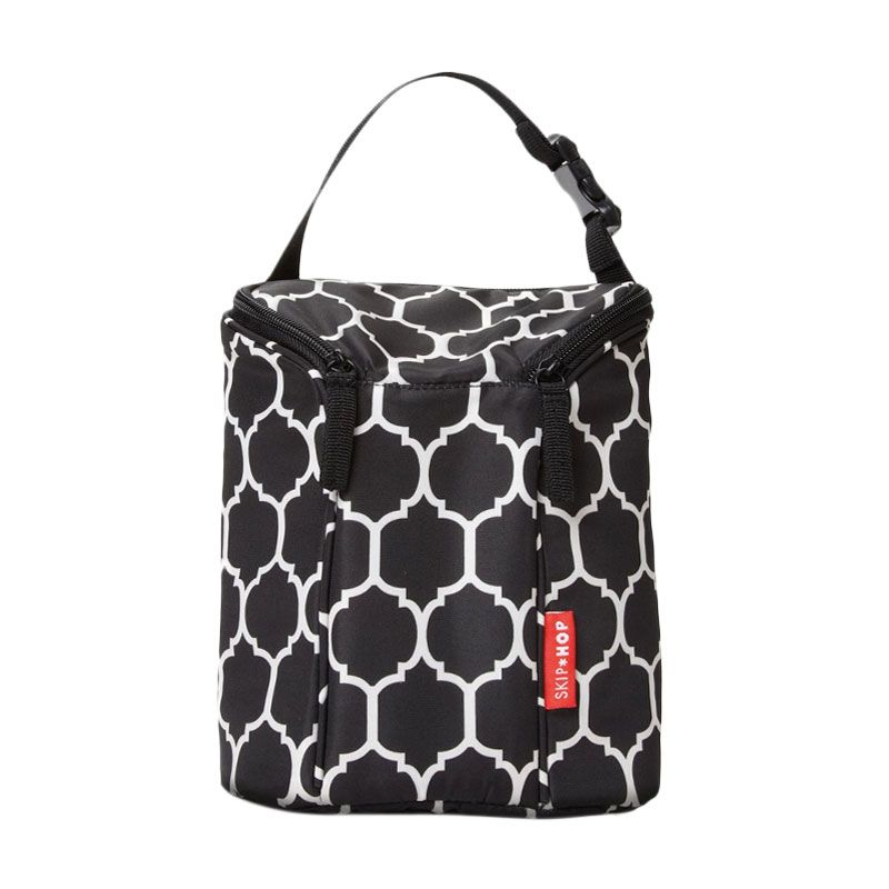 SkipHop Grab and Go Double Bottle Bag Onyx Style Tas Bayi