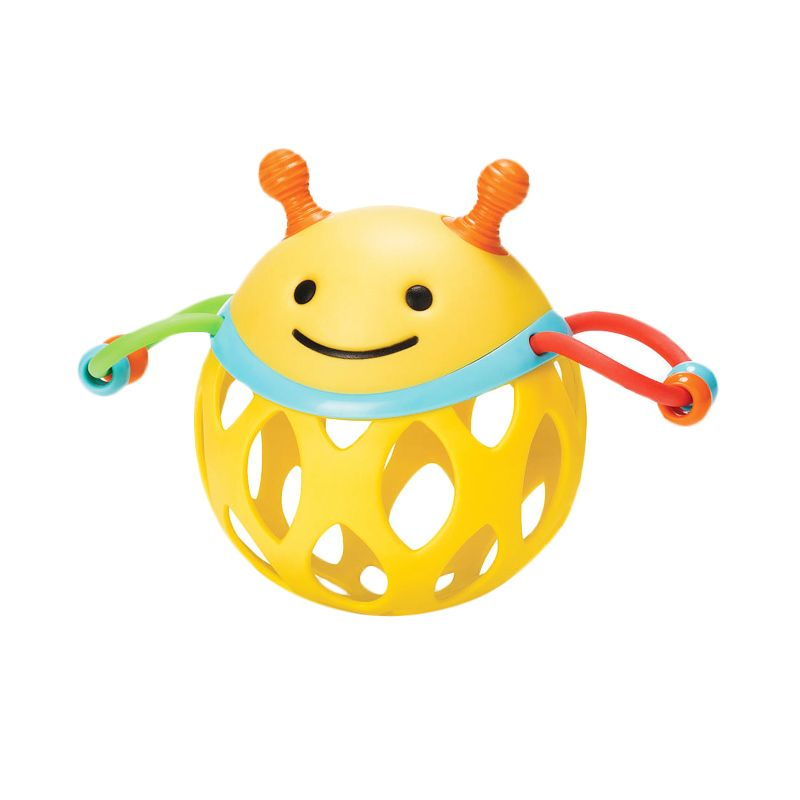 SkipHop Roll Around Rattles Bee Orange Mainan Anak