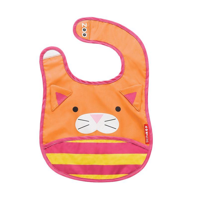 Skip Hop Zoo Bib Cat Orange Celemek Bayi