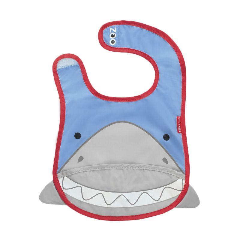 Skip Hop Zoo Bib Shark Blue Celemek Bayi