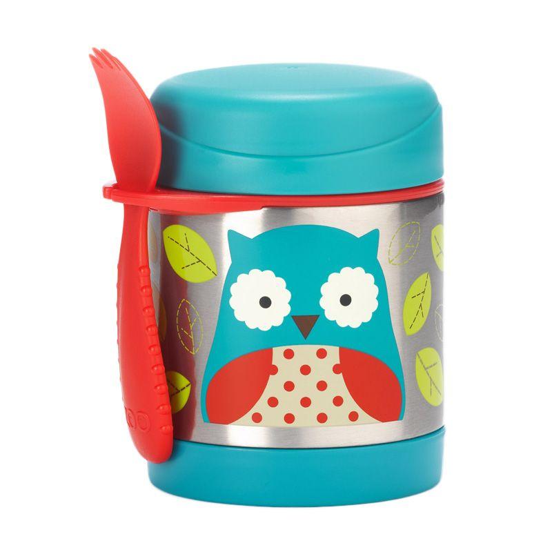 harga SkipHop Zoo Insulated Food Jar Blue Owl Termos Makan Blibli.com