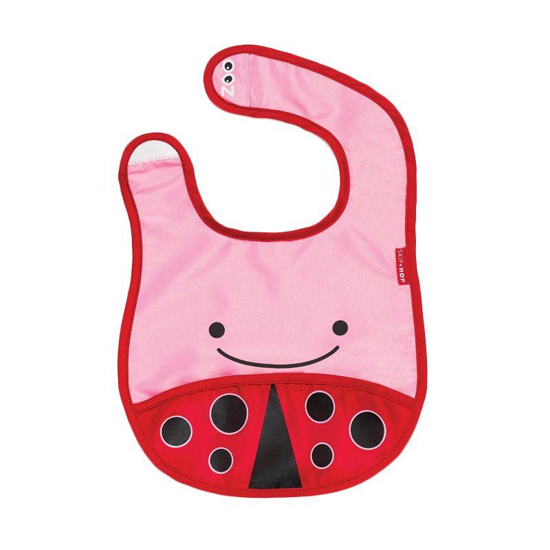 Skip Hop Zoo Ladybug Pink Red Celemek Bayi