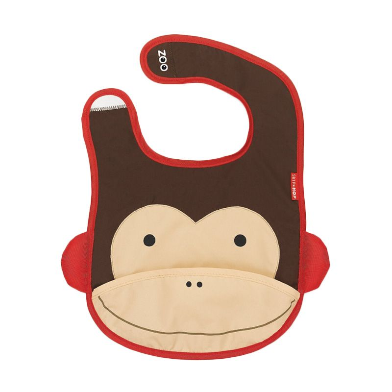 Skip Hop Zoo Monkey Brown Celemek Bayi