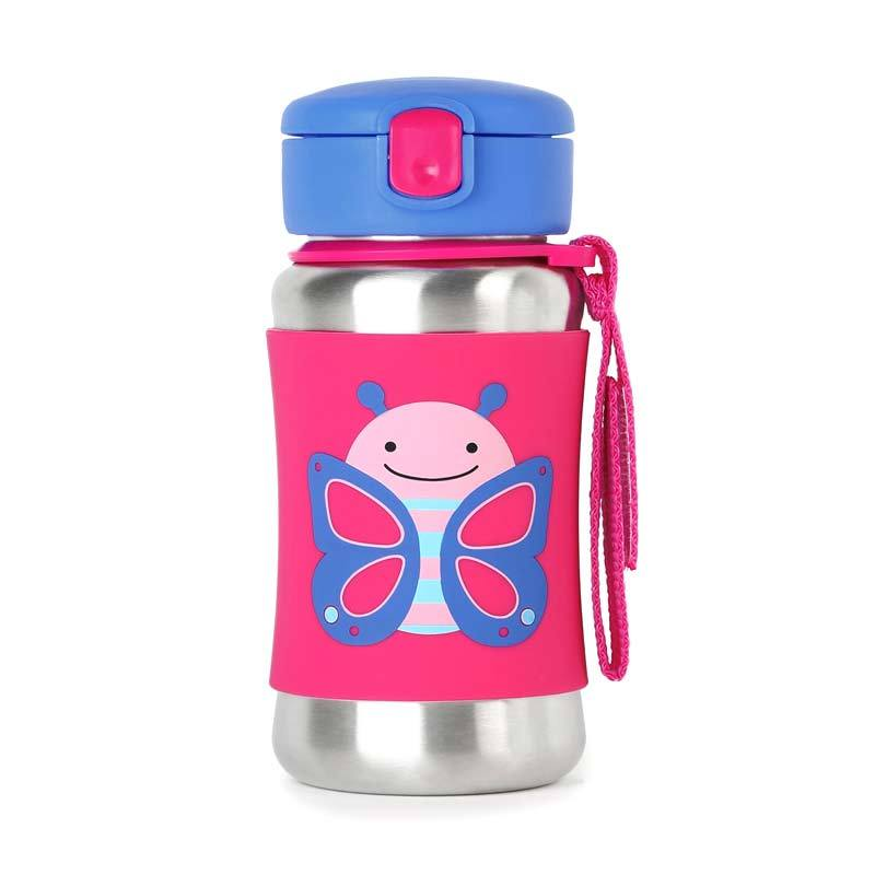 Skip Hop Zoo Stainless Sport Butterfly Botol Minum