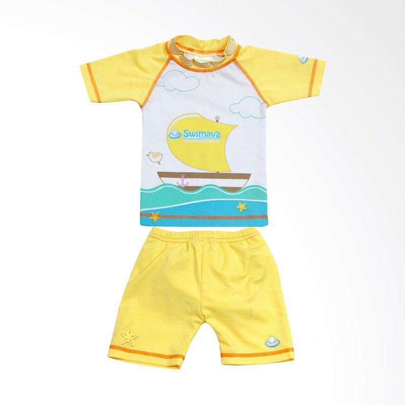 Swimava Baby Sun Suit Kuning Baju Renang Anak