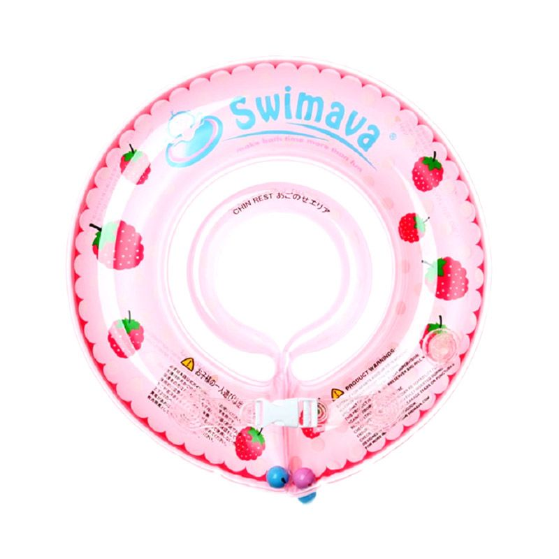 swimava berry Pink Swimmer Ring with Pump neck ring