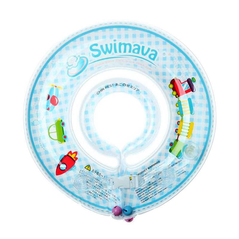 Swimava Set Train Blue Swimmer Ring with Pump Neck Ring