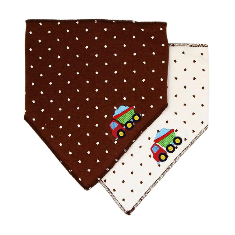 Luvable Friends Truck Trangle Trendy Baby Bib Celemek Bayi [2 Pcs]