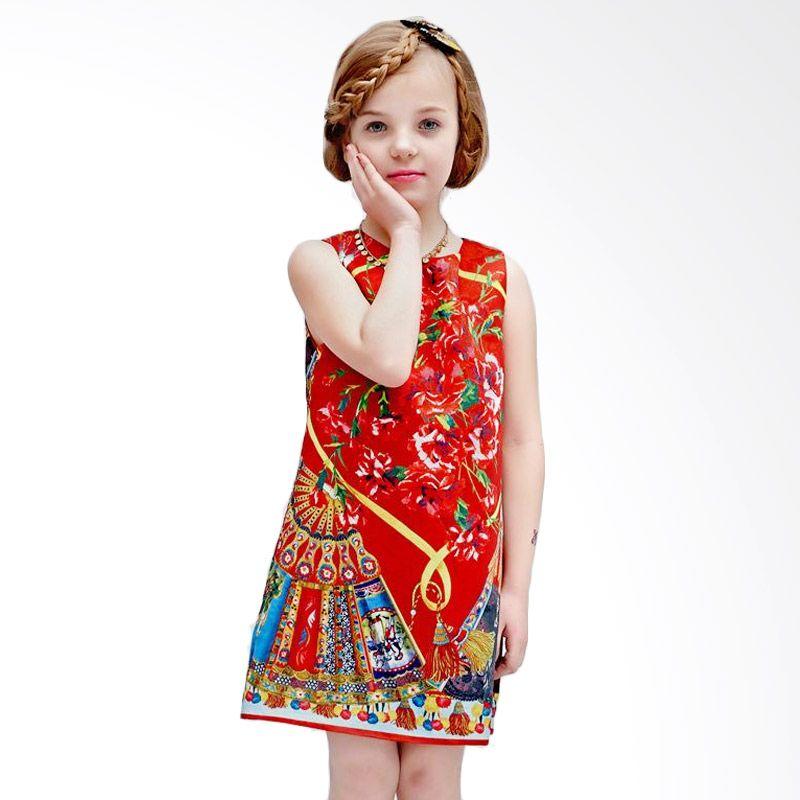 harga W.L. Monsoon Red Dress Anak Blibli.com
