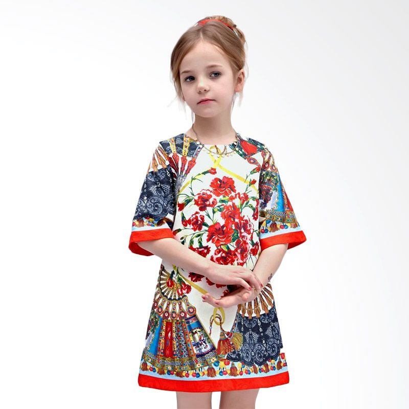 harga W.L. Monsoon White Dress Anak Blibli.com