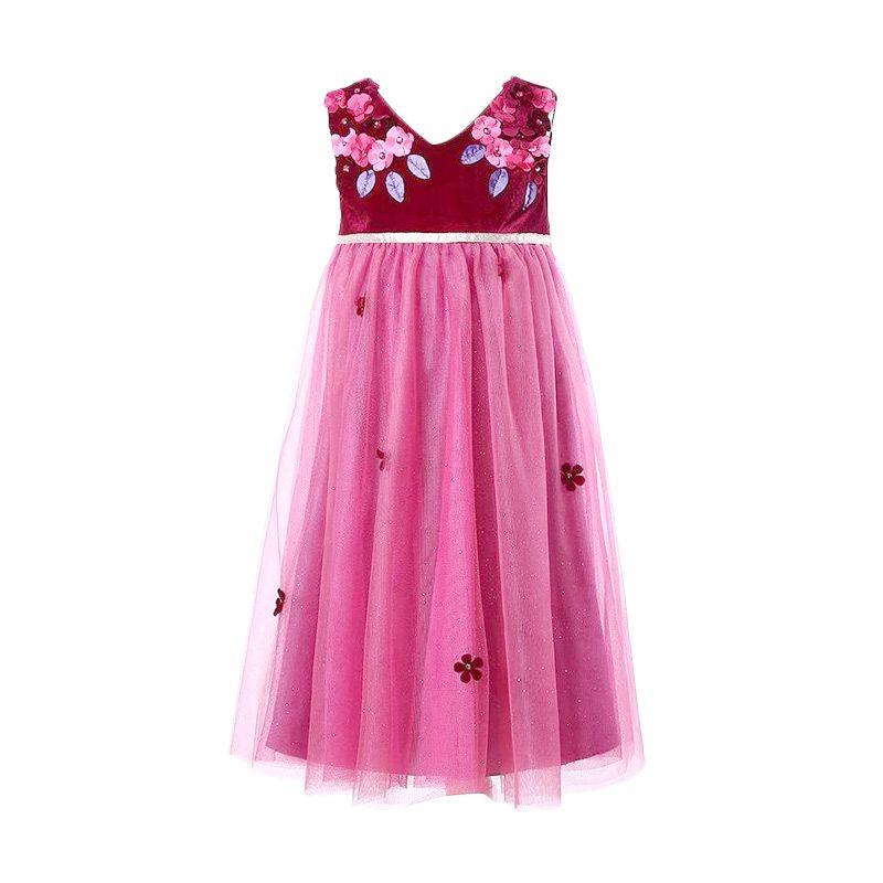 harga W.L. Monsoon Wine Red Dress Anak Blibli.com