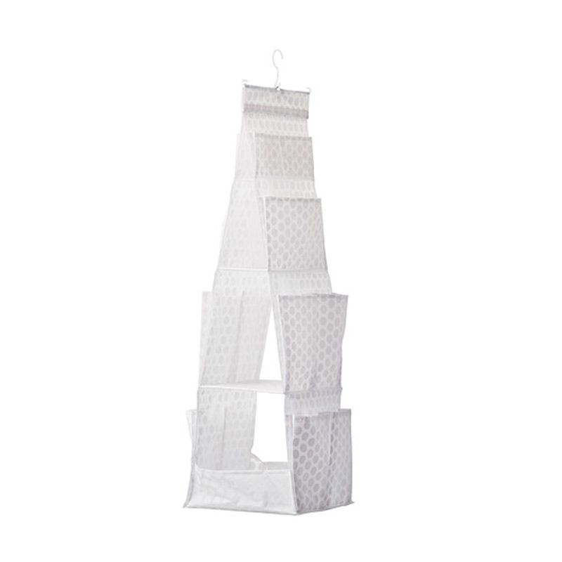 IKEA Pluring Organizer Putih Keranjang Gantung [30x30x106 cm]