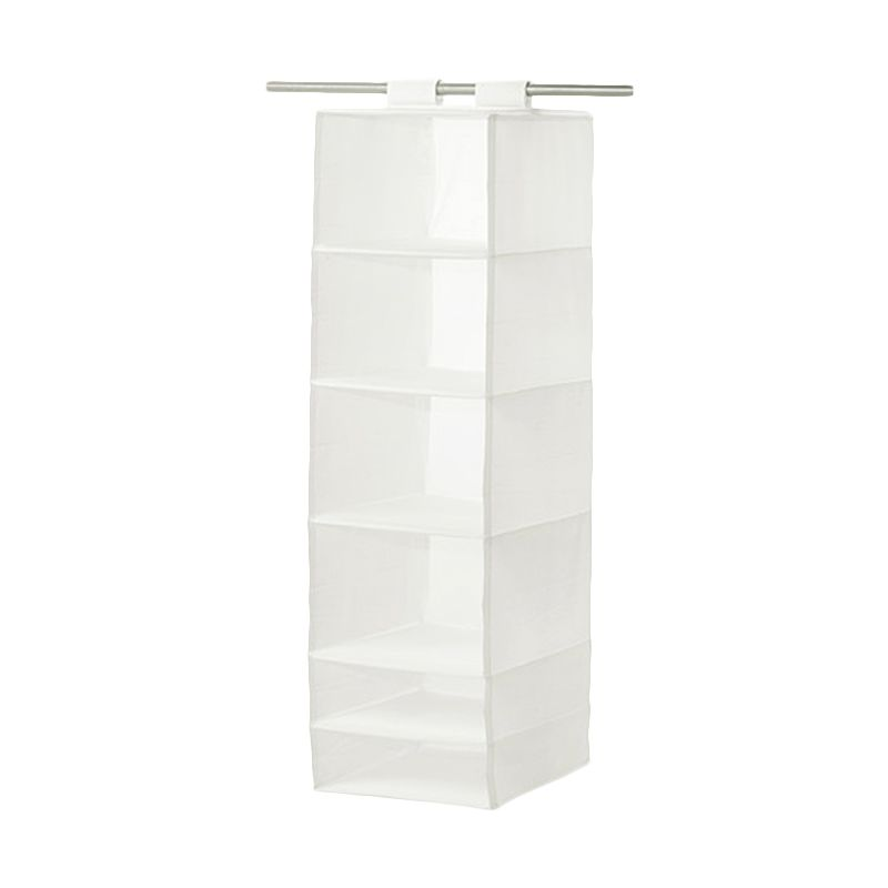 Ikea Skubb White Storage Organizer with 6 Compartments [35x45x125 cm]