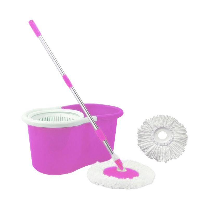 Magic Spin Pink Mop Alat Pel Lantai