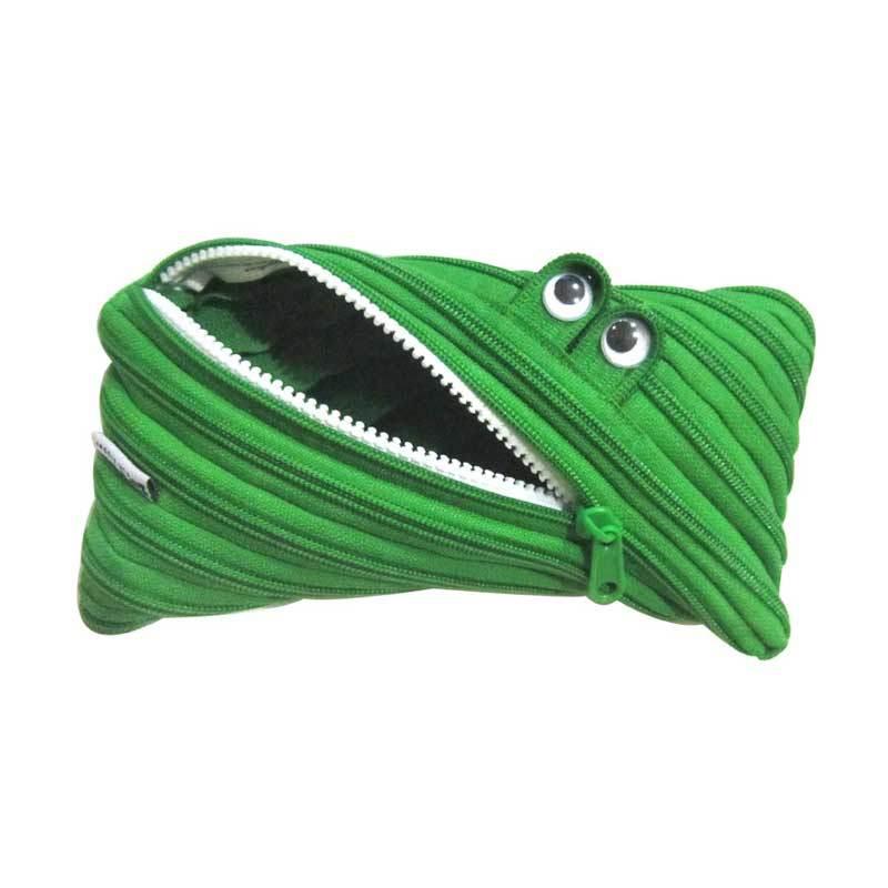 Zip N Roll Pouch 23 x 11 CM - SP001 - Hijau