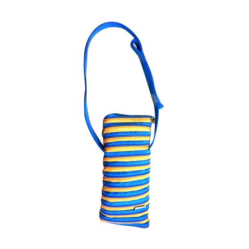 Zip N Roll Tas Botol 13 x 26 CM - BP001 - Blue and Yellow