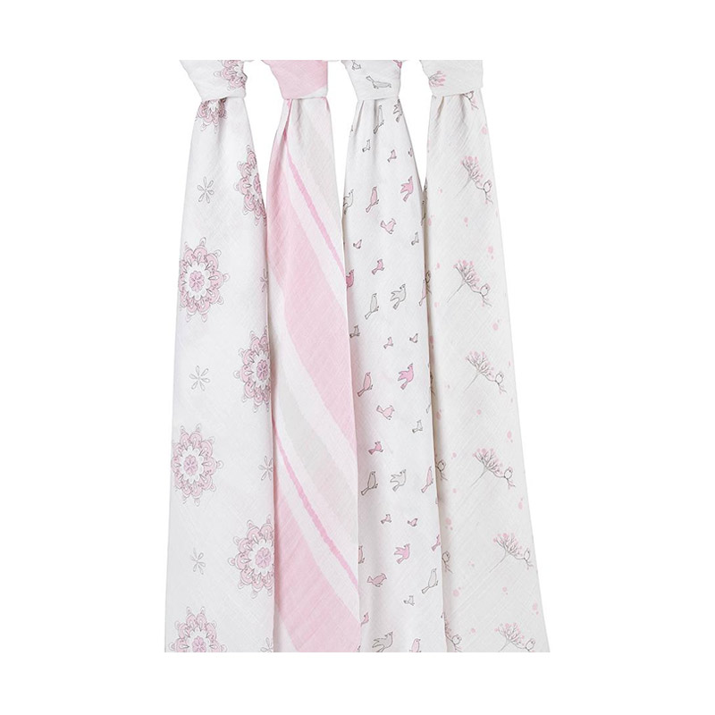 Aden Anais For The Birds Classic Swaddles Bedong Bayi [4 pcs]