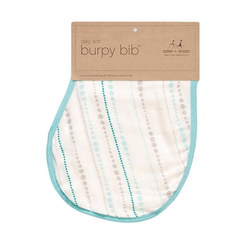 Aden+anais - Single Silky Soft Burpy Bib - Azure Bead - Alas Tidur Bayi dan Anak