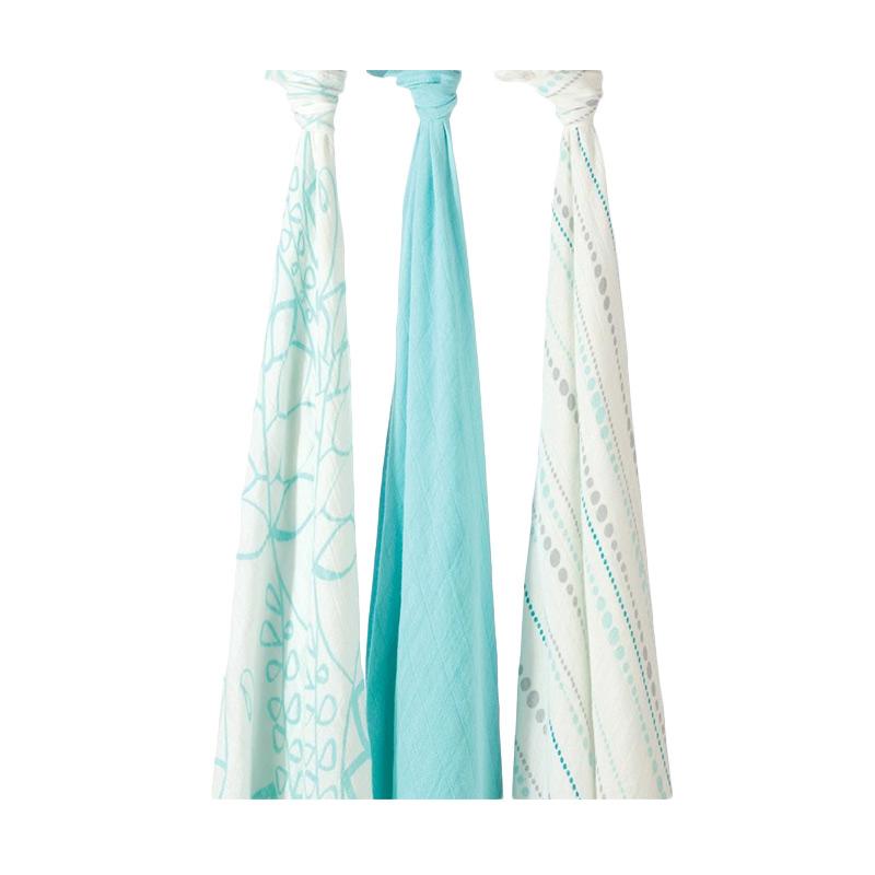 Aden Anais Azure Silky Soft Swaddles Bedong Bayi [3 pcs]