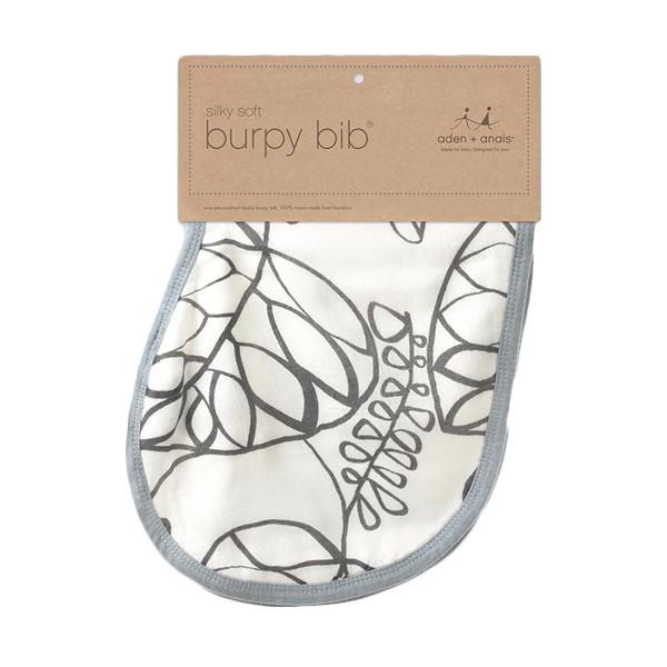Aden+anais - Single Silky Soft Burpy Bib - Moonlight Leafy - Alas Tidur Bayi dan Anak