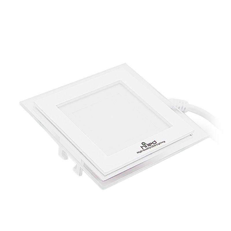 Hiled Panel Downlight 6W Square Warm White Lampu