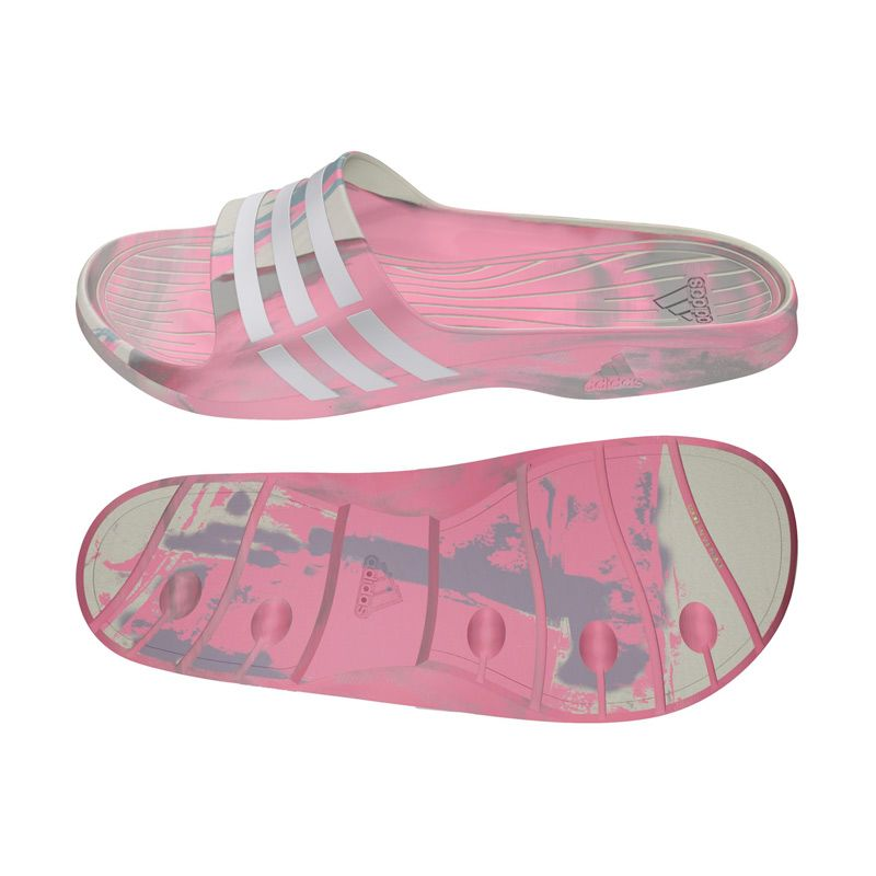 adidas Women Duramo Sleek Marbled Pink Grey Sandal (S77685)