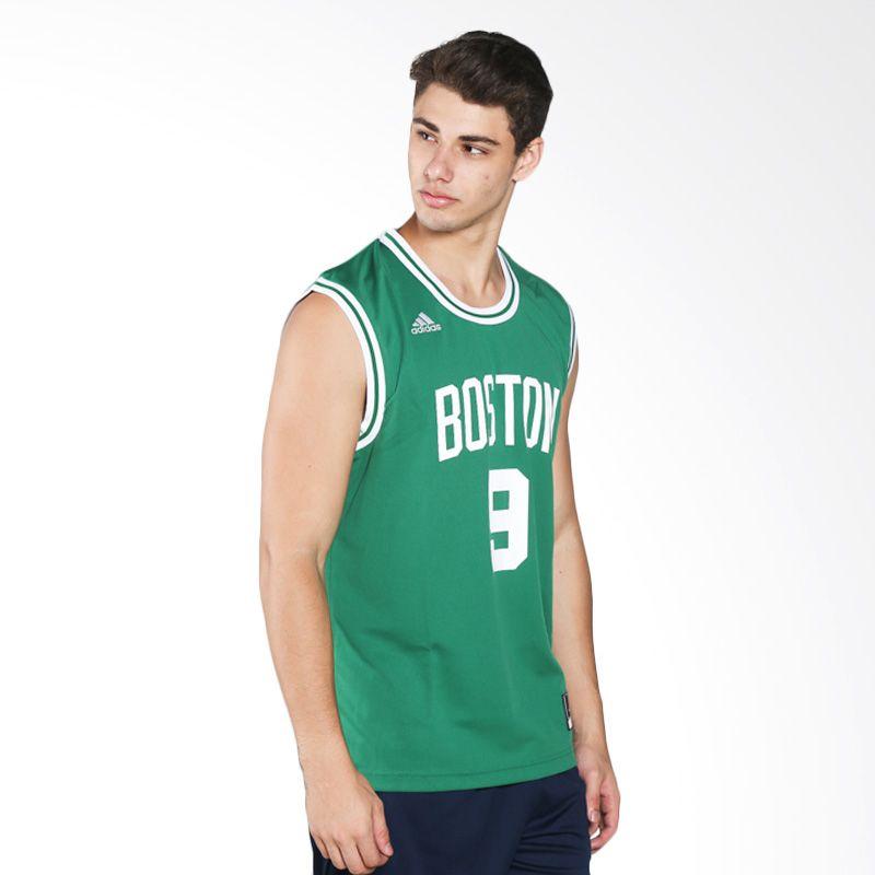 adidas Men Basketball NBA Boston Celtics Rajon Rondo Replica Hijau Jersey Basket (A47337)